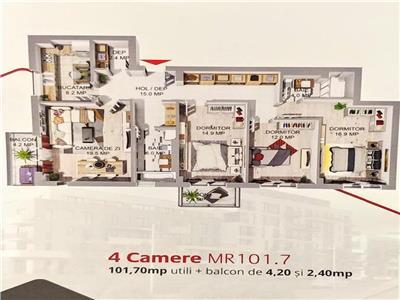 Apartamente cu 4 camere de vanzare in Complexul Maurer Rezidence