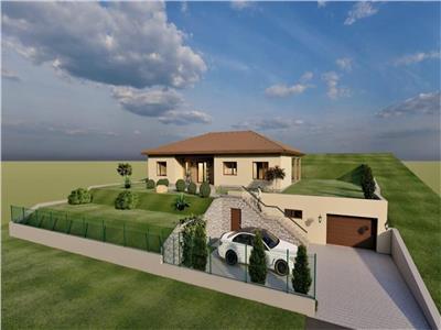 Vanzare teren cu proiect de casa pe un nivel situat in Voiniceni